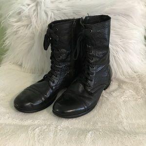 Steven Madden Black Combat Boots